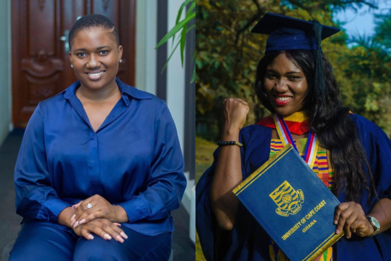 Abena Korkor Shares Graduation Photo To Show She Actually Completed UCC Despite Her Health Challenges