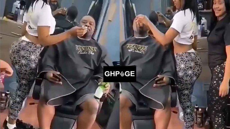 Video of barbershop where hot ladies twerk to entertain male customers pop up (Watch)