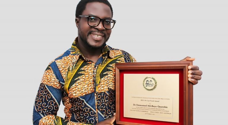 Ghanaian psychologist wins international award on suicide prevention research