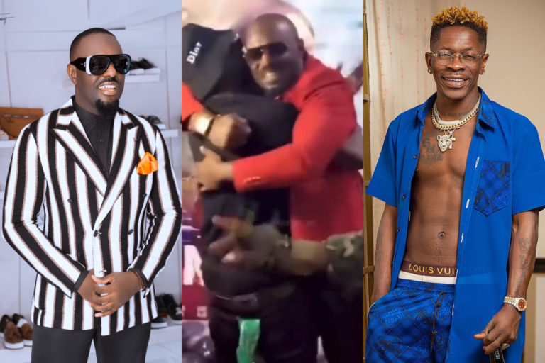 The Lovely Moment Shatta Wale Met His Twin Brother Jim Iyke (Video)