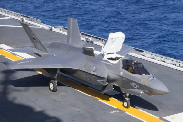 Watch: Marine Corps F-35B fighters are first aircraft to launch from Japanese warship since WWII