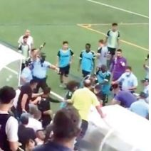 Police Fire Shots …As Game Descends Into Fighting