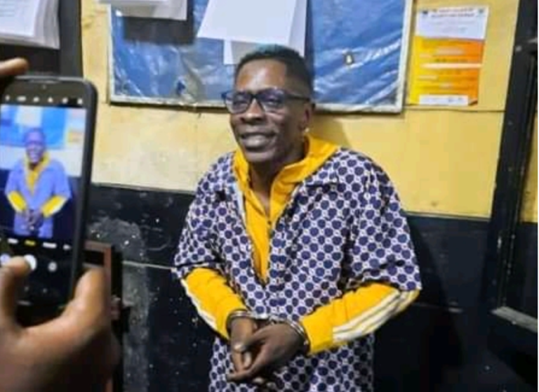 UNSEEN Photos Of Shatta Wale When He Was Arrested By The Police Hit The Internet