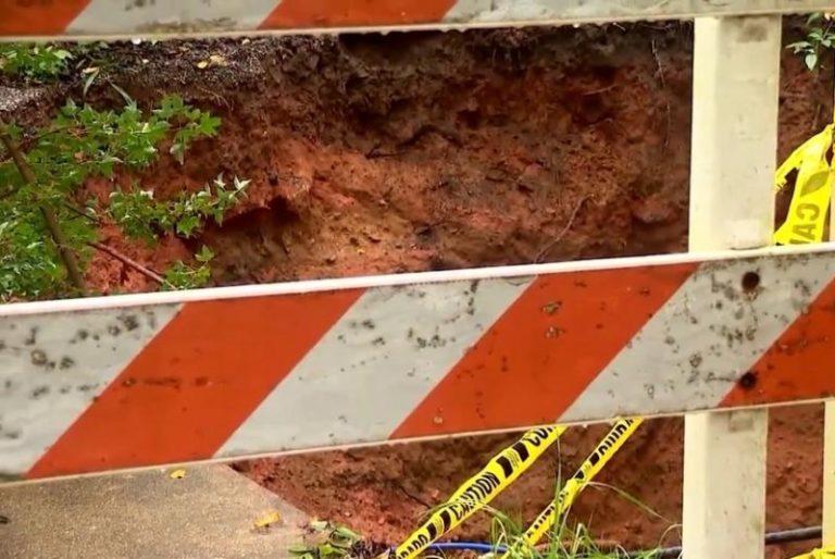 Watch: Sinkhole in North Carolina neighborhood doubles in size, worries residents