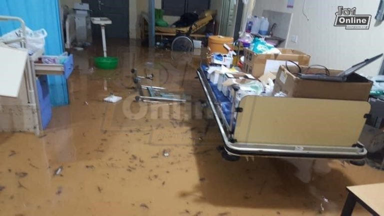 Parts of Cape Coast flooded after heavy rains