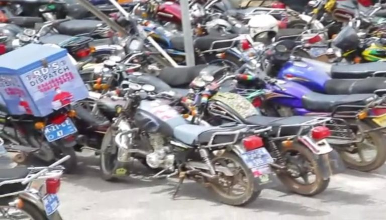 Police impound over 100 motorbikes in connection with daylight robbery