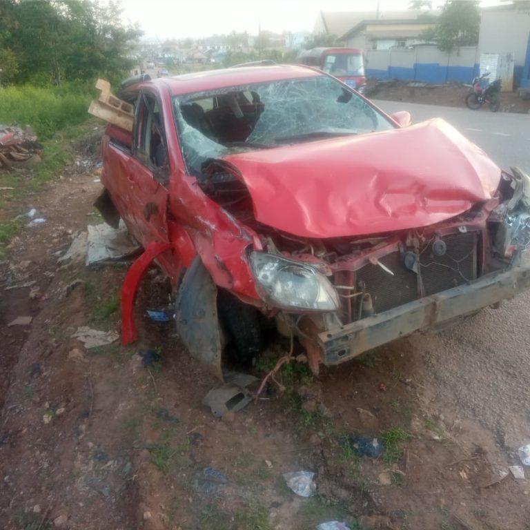 Speeding car runs over traders at Nzema-Nkwanta