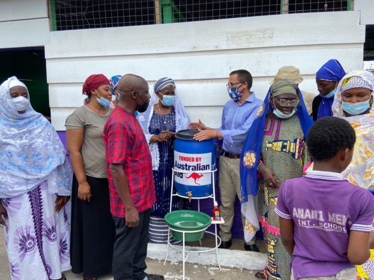 Australia Aid supports Anani Memorial School with toilet and other facilities