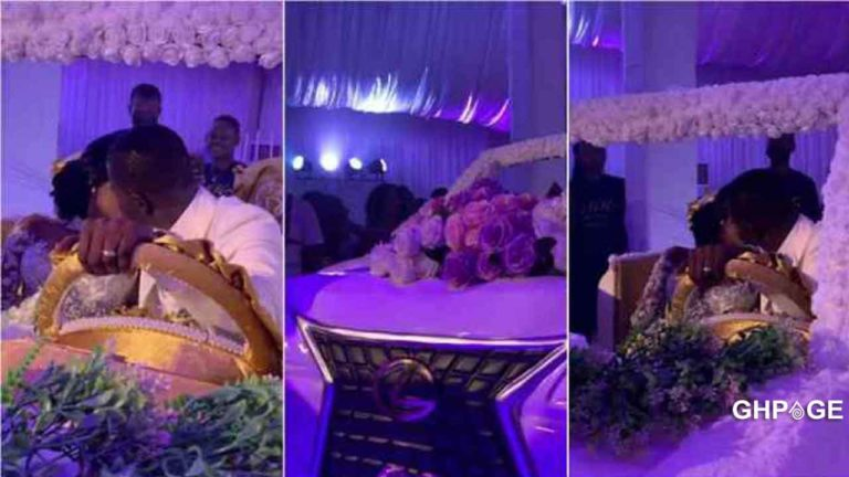 Ghanaian couple set record with biggest-ever wedding cake formed like a V8 car